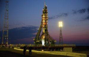 """С Байконура произведен  запуск пилотируемого корабля """"Союз МС-03"""" с новым экипажем МКС, корабль успешно выведен на орбиту"""
