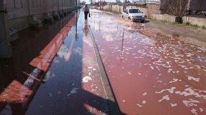 После аварии на заводе PepsiCo под Липецком на улицы вылились тонны сока