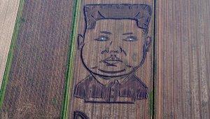 На соевом поле в Италии появился двухсотметровый портрет Ким Чен Ына