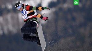 Российский сноубордист Олюнин получил перелом голени в полуфинальном заезде в борд-кроссе на ОИ-2018.