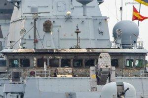 Зенитная ракета взорвалась на борту немецкого фрегата FGS Sachsen