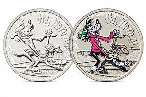 """Центробанк выпустил монеты с волком и зайцем из """"Ну, погоди!"""" (В этом году культовому мультфильму исполняется 50 лет)"""