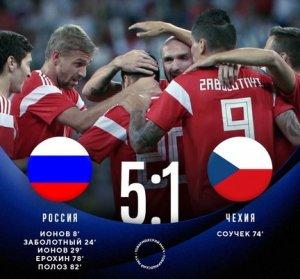 Сборная России разгромила Чехию в контрольном матче