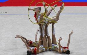 Сборная России выиграла золото ЧМ по художественной гимнастике в групповом многоборье (Для российских гимнасток эта медаль стала 11-й на турнире)