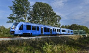 На северо-западе Германии запущен первый в мире поезд на водородных топливных элементах