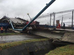 В городе Свободном Амурской области произошло обрушение виадука на железнодорожные пути