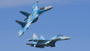 Двое пилотов Су-27, потерпевшего крушение на Украине, погибли