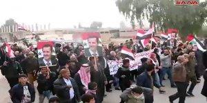 Жители провинции Ракка протестуют против угроз Турции начать агрессию на сирийской территории