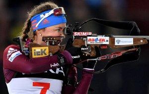 Российские биатлонистки впервые с 2012 года победили в эстафете на этапе Кубка мира