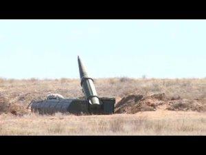 """Министерство обороны опубликовало видео пуска баллистической ракеты оперативно-тактического ракетного комплекса (ОТРК) """"Искандер"""""""