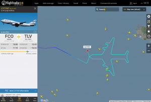 "Boeing 747 ""нарисовал"" в небе свой силуэт"
