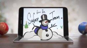 Microsoft просто поздравила с праздниками или намекнула на голографический экран Surface Duo?