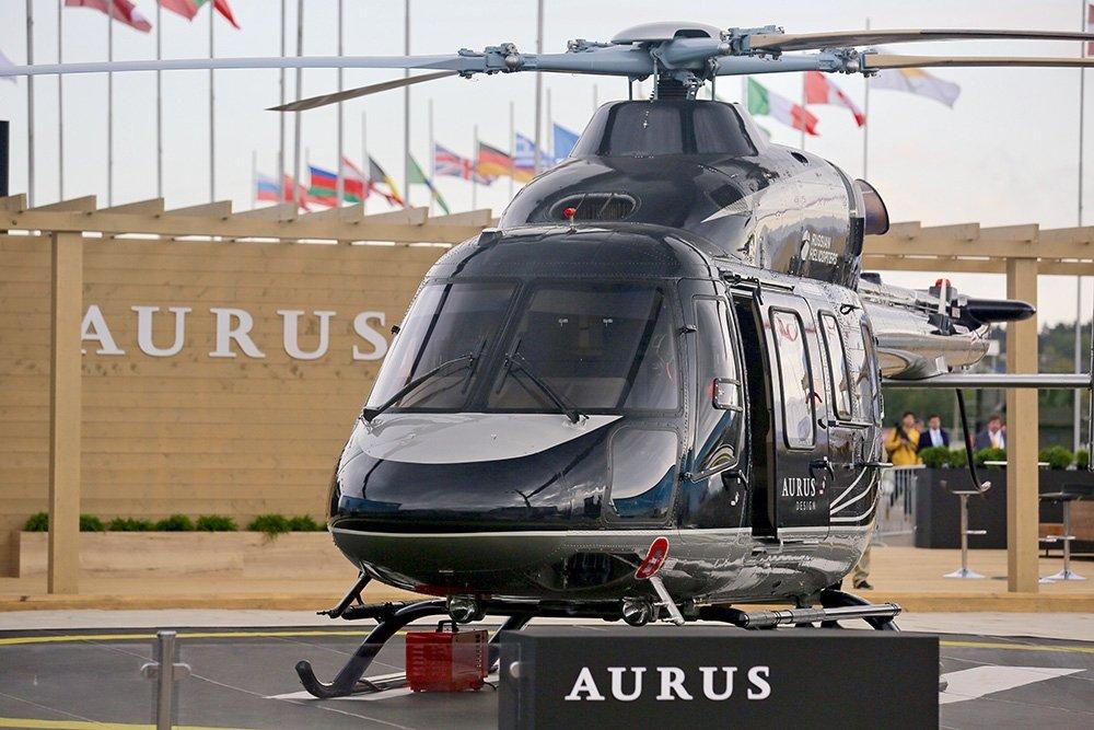 На МАКС впервые представили вертолет в стиле Aurus