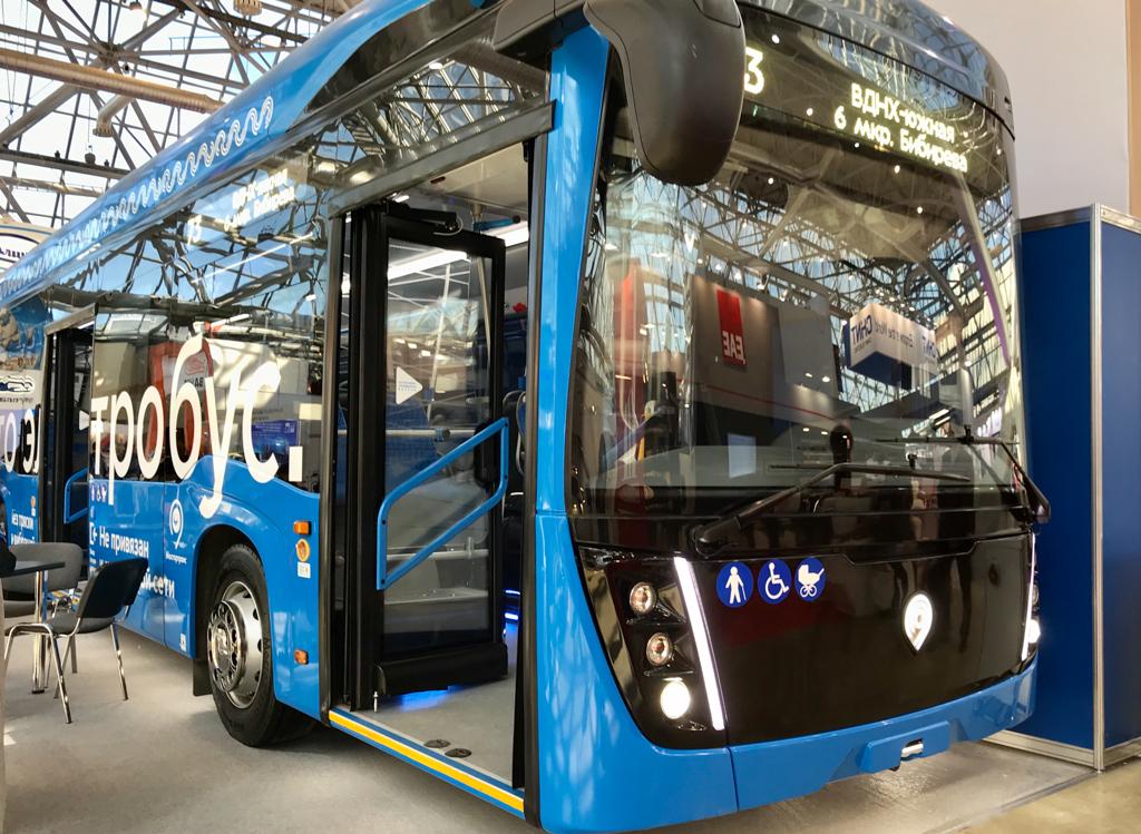 "КАМАЗ представил электробус на выставке ""Электро-2019"""