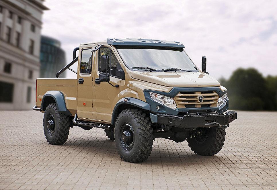 ГАЗ создал пикап на базе армейского грузовика ГАЗ-33088