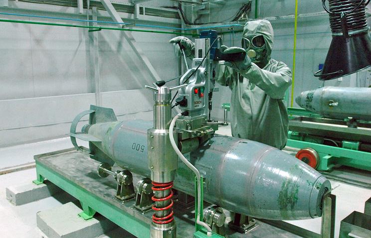 Россия призвала США немедленно уничтожить свое химическое оружие