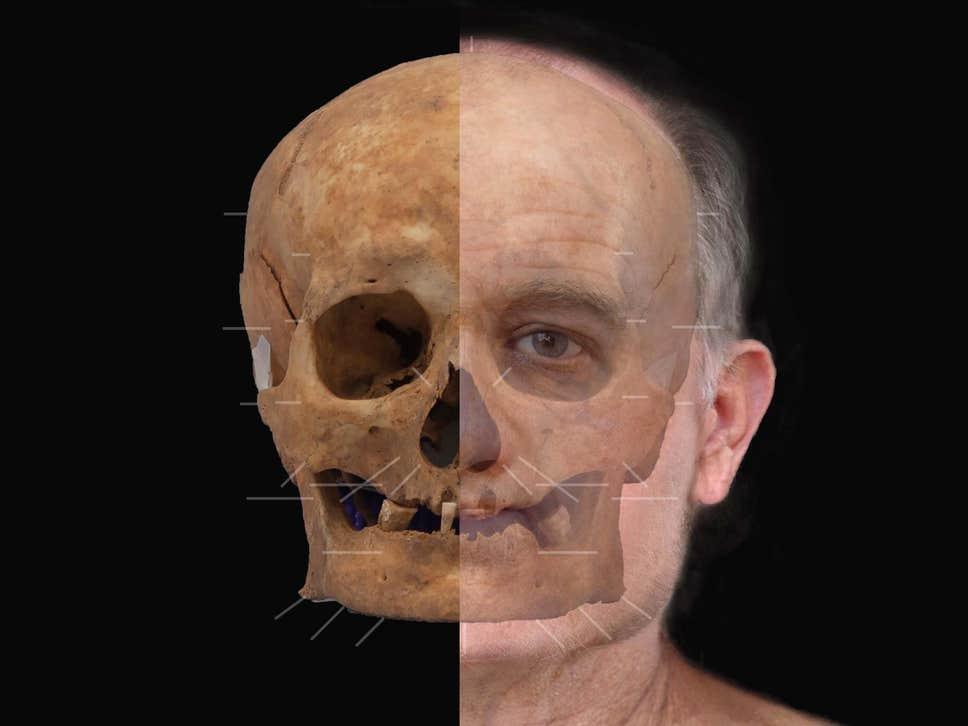 В Шотландии восстановили лицо человека, который жил около 600 лет назад