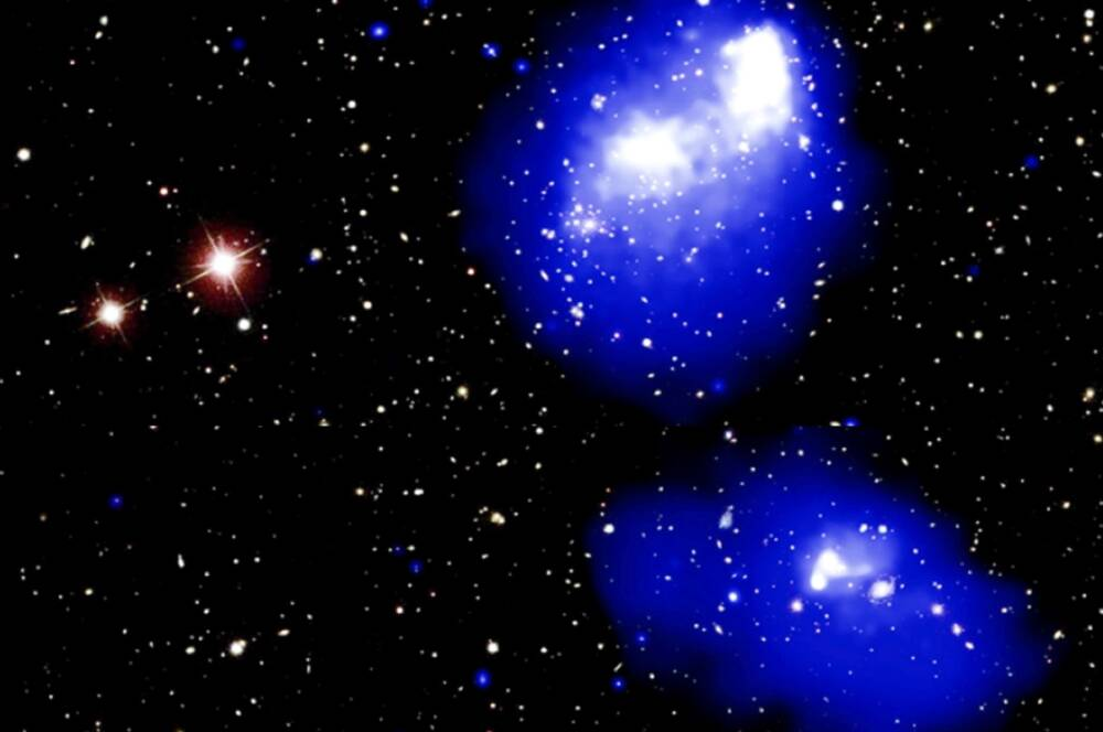 """Длинный """"радиомост"""" соединил готовящиеся к слиянию скопления Галактик"""