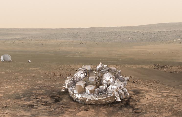 Schiaparelli разбился о поверхность Марса при посадке