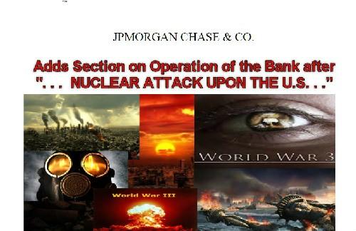 """Крупнейший мировой банк разработал и ввел в действие внутренние правила на период """"...после ядерного нападения на Соединенные Штаты ..."""""""