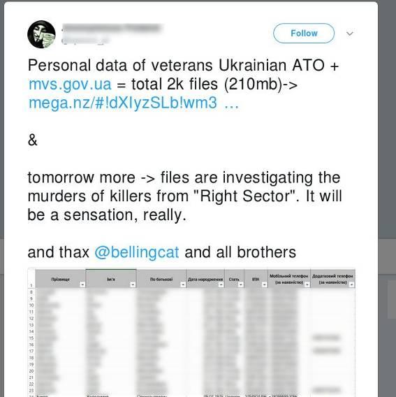 Хакеры похитили архив с данными участников АТО в Донбассе