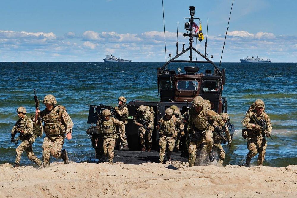Эстонские ополченцы острова Сааремаа разгромили морской спецназ Британии