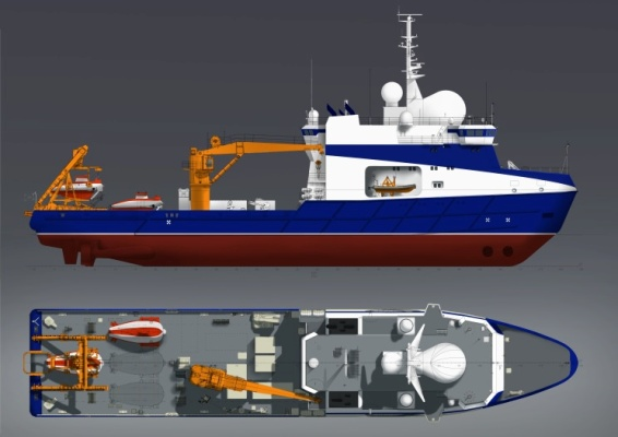 Два военных океанографических судна с глубоководными аппаратами спустили на воду
