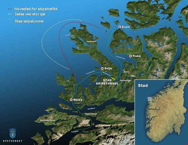 Первый в мире туннель для кораблей решено построить в Норвегии