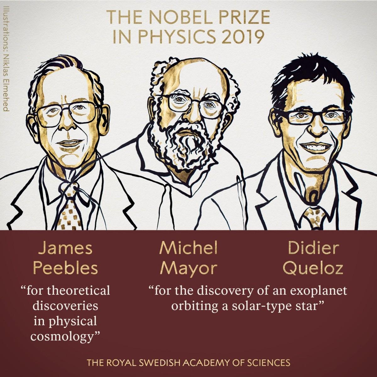 Нобелевскую премию по физике дадут за открытия в космологии и первую найденную экзопланету