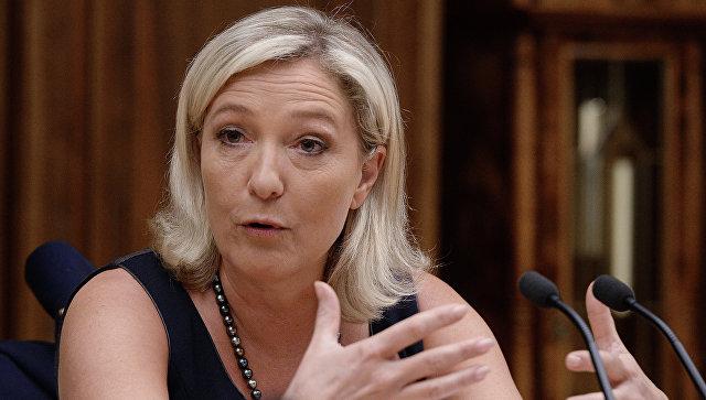 Марин Ле Пен выказалась за выход Франции из НАТО и ЕС