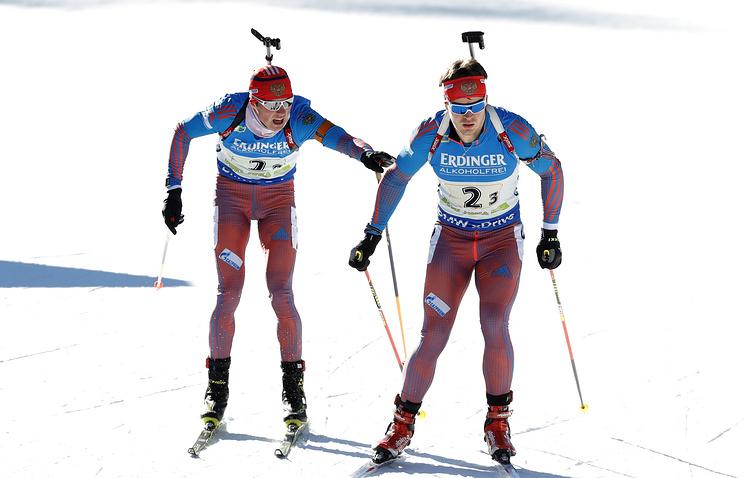 Сборная России заняла второе место в эстафете на этапе КМ по биатлону