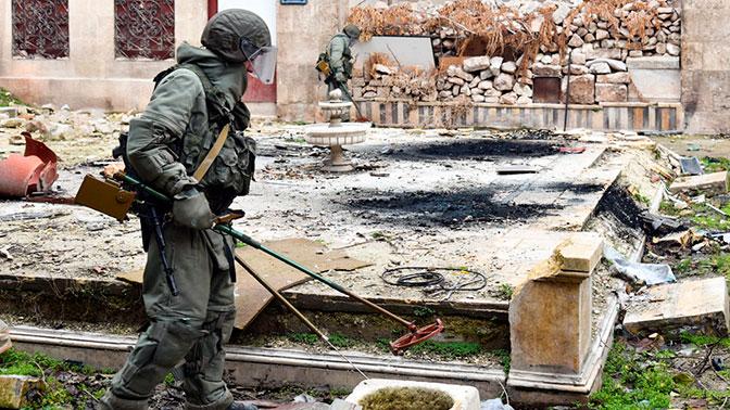 США попросили сербских саперов ничего не разминировать в Сирии