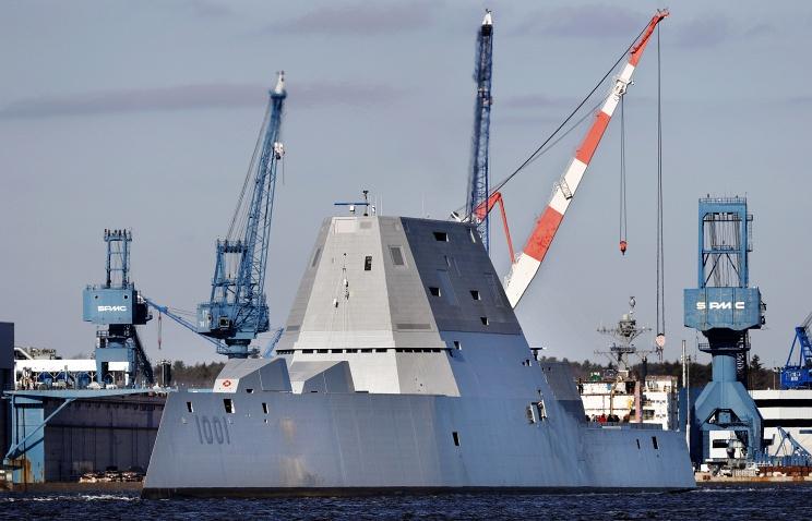 Новый американский эсминец сломался во время испытаний