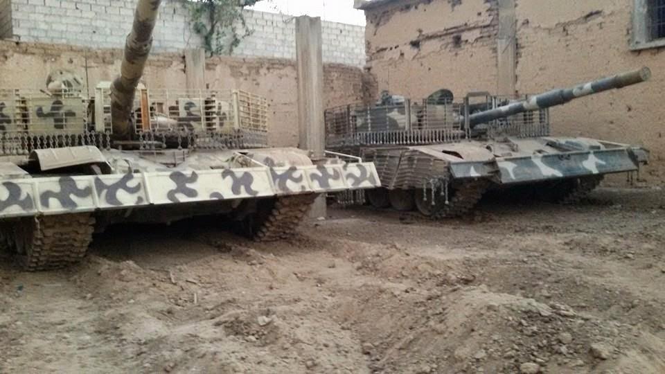 Сирийские боевики в Дераа сдали 21 танк Т-55 и пять танков Т-72