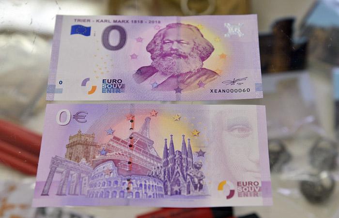 На родине Маркса продали 100 тысяч сувенирных купюр номиналом 0 евро