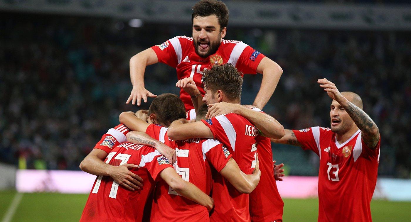 Сборная России обыграла Турцию в матче Лиги наций
