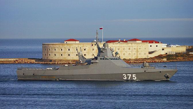 """Новейший патрульный корабль впервые прибыл в Севастополь (Корабль """"Дмитрий Рогачев"""" пройдет здесь очередной этап госиспытаний)"""