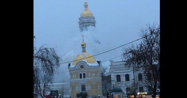 В Киево-Печерской лавре вспыхнул пожар ?