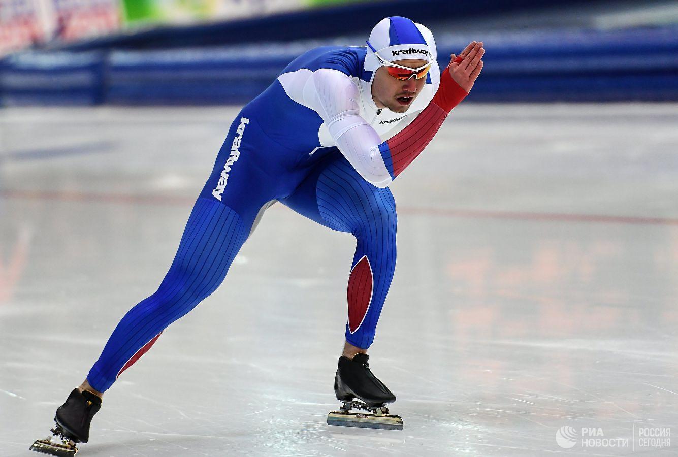 Конькобежец Павел Кулижников - первый в истории России трехкратный чемпион мира в спринте