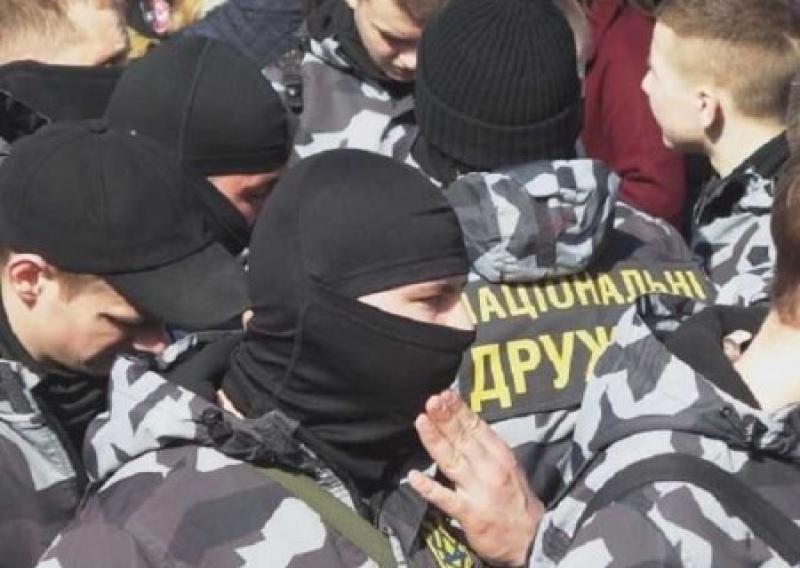 """Националистов, отличившихся на митинге Порошенко в Черкассах, вносят на """"Миротворец"""""""