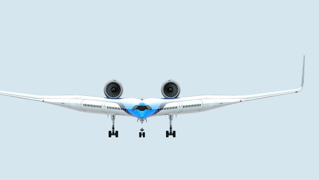 Показан концепт V-образного самолета (В новом V-образном самолете пассажиров посадят в крылья)