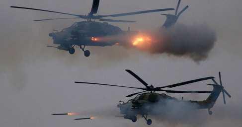 """Пуск """"Хризантемы-В"""" с новейшего Ми-28НМ: кадры первого применения самой мощной противотанковой ракеты в России"""