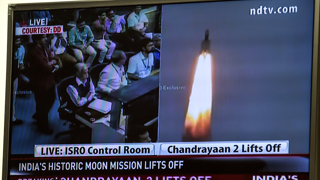 "Индия запустила к Луне экспедицию ""Чандраян-2"""