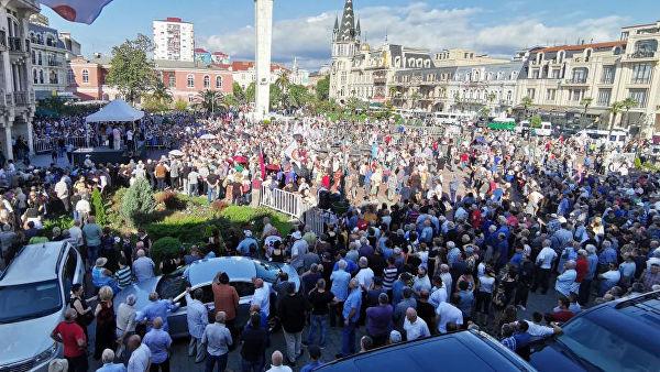 Жители Батуми вышли на митинг за улучшение отношений с Россией