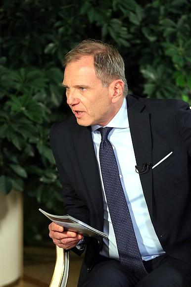 В преддверии визита в Австрию Президент России ответил на вопросы ведущего австрийской телерадиокомпании ORF Армина Вольфа