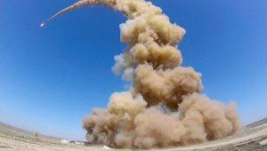 Минобороны показало пуск модернизированной противоракеты российской системы ПРО на полигоне Сары-Шаган