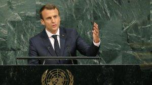 Макрон считает, что мир в Сирии должен быть установлен под контролем не только стран-гарантов Астанинского процесса, но и Великобритании, Германии, США, Франции, Египта, Иордании и Саудовской Аравии