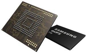 Терабайт в смартфоне: в Samsung начат выпуск новейших модулей eUFS размером 11,5 × 13,0 мм с последовательной записью данных на скорости до 260 Мбайт/с