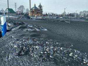 В двух городах Кузбасса выпал чёрный снег