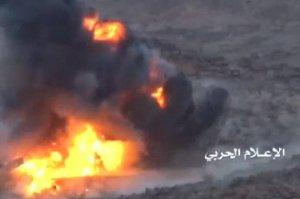 Взрыв за взрывом. Уничтожение американской бронетехники хуситами попало на видео